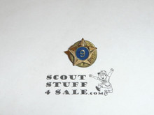 Boy Scout 6/9 Year Pin, Post Back