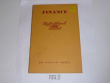 1956 Finance, Local Council Manual Series, 1-56 printing