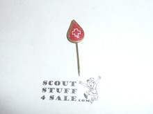 Red Cross Blood Donor Stick Pin