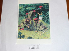 So Much Concern by Norman Rockwell, 5x7 Post card