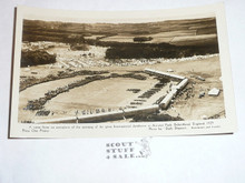 1929 World Jamboree Post Card, Ariel View of Arrowe Park