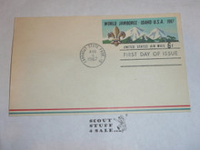 1967 World Jamboree Post Card, First Day of Issue Cancelled