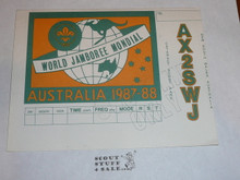 1987-88 World Jamboree Post Card, unknown purpose