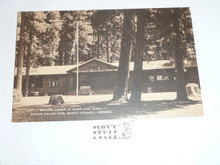 Girl Scout Post card, Beaver Lodge at Camp Low Echo, Artvue, 1940's-60's