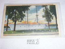 Sea Scout Base on Crater Lake, Omaha Neb Post card, 1949