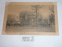 Respect to the Flag, Official Boy Scout Post card, 1915
