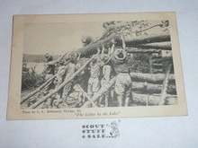 The Lodge by the Lake, Official Boy Scout Post card, 1915