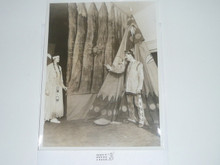 "1900's Picture of Seton in Regalia With Indian Girl, 8""x10"""