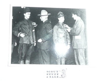 Teen's Picture of Seton And Beard Presenting Badges to Boy Scouts