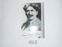 Picture Of E. T. Seton With BSA Pin on Lapel And Signature Below
