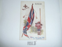 Teen's British Boy Scout Postcard, What Can I do For My Country?