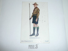 Teen's British Boy Scout Postcard, A King's Scout