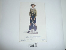 Teen's British Boy Scout Postcard, A Boy Scout Signaller