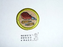 Rifle Shooting - Type H - Fully Embroidered Plastic Back Merit Badge (1971-2002)