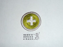 Safety (Silver bdr) - Type H - Fully Embroidered Plastic Back Merit Badge (1971-2002)