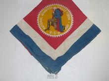 1950 National Jamboree Silk Neckerchief, Used