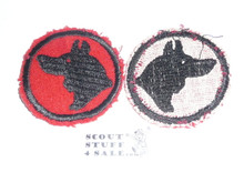 Wolf Patrol Medallion, Felt No BSA & Gauze Back, 1927-1933, Lt. Use