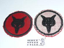 Fox Patrol Medallion, Felt No BSA & Gauze Back, 1927-1933, lt use
