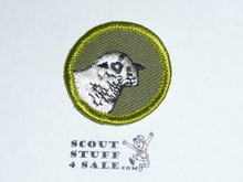 Sheep Farming - Type F - Rolled Edge Twill Merit Badge (1961-1968)