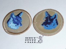 Fox Patrol Medallion, Tan Twill with plastic back, 1989-2002