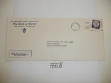 1960's San Fernando Valley Council Blank addressed Stationary Envelope