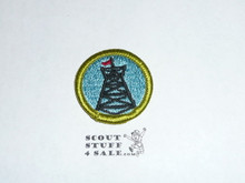 Pioneering - Type H - Fully Embroidered Plastic Back Merit Badge (1971-2002)