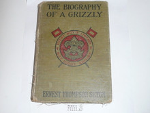 The Biography of a Grizzly, By Ernest Thompson Seton, 1919, Every Boy's Library Edition, Type Two Binding, spine repaired and shows wear