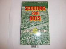 1967 Scouting for Boys, By Sir Robert Baden-Powell, Scouts' Edition, Third Printing