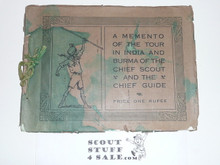 A Memento of the Tour in India and Burma of the Chief Scout and the Chief Guide, 1921, Ink on Cover