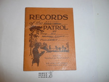 Patrol Record Book, 1935 Printing