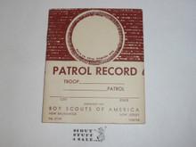 Patrol Record Book, 7-68 Printing