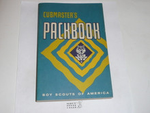 1968 Cubmaster's Packbook, Cub Scout, 1-68 Printing