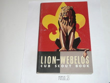 1962 Lion Cub Scout Handbook, 12-62 Printing, Near MINT