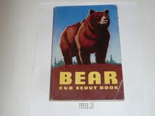 1962 Bear Cub Scout Handbook, 11-62 Printing, lt. use