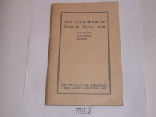 1939 The Guidebook of Senior Scouting, 1-39 Printing