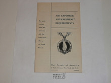 1950 Air Explorer Advancement Requirements, Air Scout, 6-50 Printing