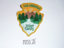 Lake Arrowhead Scout Camps Patch - Undated Twill Arrowhead - Used