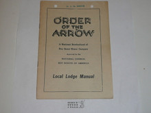 Local Lodge Manual, Order of the Arrow, 11-1945 Printing