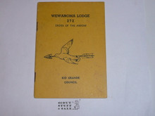 Wewanoma Lodge #272 Guide for Members, 1951, Lists officers 1944-1951, get that f1 from one of these old timers!