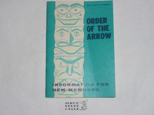 Order of the Arrow Information For New Members, 1972, 2-72 Printing