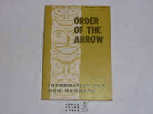 Order of the Arrow Information For New Members, 1968, 3-68 Printing