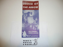 Order of the Arrow Information For New Members, 1966, 9-66 Printing