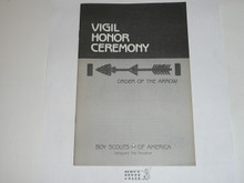 Vigil Ceremony Manual, Order of the Arrow, 1990 Printing
