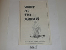 Spirit of the Arrow Book, Order of the Arrow, 1972 printing