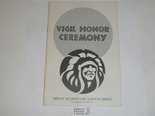 Vigil Ceremony Manual, Order of the Arrow, 1984 Printing