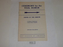Vigil Ceremony Manual, Order of the Arrow, 1966, 10-66 Printing 18149