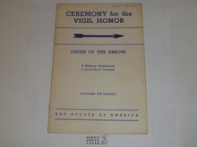 Vigil Ceremony Manual, Order of the Arrow, 1960, 10-60 Printing