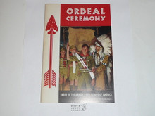 Ordeal Ceremony Manual, Order of the Arrow, 1970, 7-70 Printing