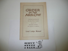 Local Lodge Manual, Order of the Arrow, 8-43 Printing
