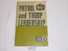 1978 Patrol and Troop Leadership Handbook, Fourth Edition, MINT Condition